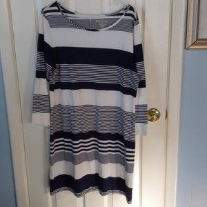 Lily Pulitzer navy and white stripe dress sz XL